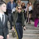 Olivia Palermo Leaves The Elie Saab Spring Summer Fashion Show In Paris