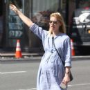 Claire Danes – Hail a cab in New York City