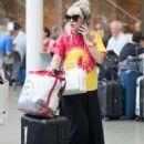 Lily Allen – Arriving back in London - 454 x 681