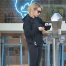 Emma Roberts in Black Leggings Out in Beverly Hills - 454 x 683