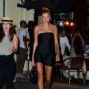 Hailey Baldwin in Little Black Dress – Night out in New York - 454 x 627