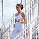 Olivia Culpo in Tights and Sports Bra – Out in Miami