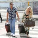 Bianca Gascoigne and boyfriend CJ Meeks Arrives at the airport in London - 454 x 415