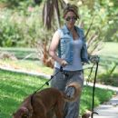 Haylie Duff: out walking her two dogs in Toluca Lake - 441 x 594