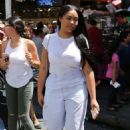 Jordyn Woods in White Out in Los Angeles