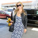 Paris Hilton Arriving At Lax Airport In La