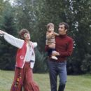 Jane Fonda and Roger Vadim with their daughter Vanessa - 397 x 594
