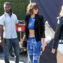 Nina Dobrev – Visits 'Extra' at Universal Studios Hollywood in Universal City