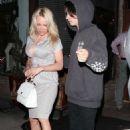 Pamela Anderson at Via Veneto in Santa Monica