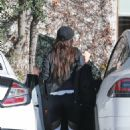 Megan Fox – Hides her face as she seen leaving a gym in West Hollywood