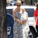 AnnaLynne McCord in Long Summer Dress – Out for lunch in Los Angeles - 454 x 681