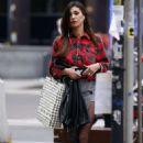 Belen Rodriguez in Mini Skirt out in Milan - 454 x 681