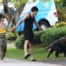 Camila Cabello and Shawn Mendes – Walking her dog Thunder in Miami - 454 x 303