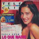 Paola Krum - Tele Clic Magazine Cover [Argentina] (3 July 1995)