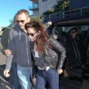 Kristen Stewart: running into Bondi Icebergs in Sydney