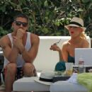 Christina Aguilera Lounges Poolside At The Fontainebleau Hotel Resort June 12, 2010