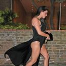 Casey Batchelor in Black Dress Night Out in London - 454 x 629