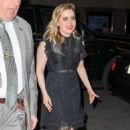Mae Whitman – Heading to the Late Night with Seth Meyers in NYC