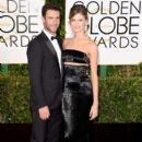 Singer Adam Levine and model Behati Prinsloo attend the 72nd Annual Golden Globe Awards at The Beverly Hilton Hotel on January 11, 2015 in Beverly Hills, California