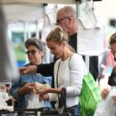 Cameron Diaz and Benji Madden at Farmers Market in LA - 454 x 585