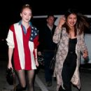 Priyanka Chopra and Sophie Turner at Craig's restaurant in West Hollywood