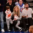 Shakira and Gerard Pique Attend The New York Knicks Vs Philadelphia 76ers Game - 454 x 309