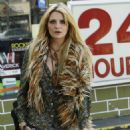 Mischa Barton In Jean Shorts At A Gas Station In CA, April 17 2010