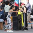 Liza Koshy – On the set of Fabletics commercial with TikTokers