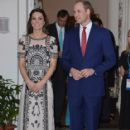 Prince William, Duke of Cambridge and Catherine, Duchess of Cambridge attend a Garden party