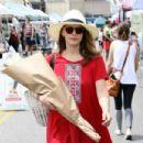 Bethany Joy Lenz in Red Dress – Buys flowers in Studio City - 454 x 303
