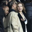 Model Barbara Palvin is joined by Kylie Jenner's ex Tyga as she watches rumoured footballer beau Neymar at PSG game in Paris - 454 x 537