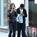 Izabel Goulart with her brother shopping in New York - 454 x 612