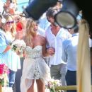 Denise Richards – Marrying Aaron Phypers in Malibu