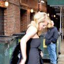 KATE UPTON Arrives at Late Show with David Letterman in New York
