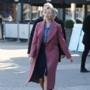 Holly Willoughby in Pink Coat at ITV Studios in London - 454 x 579
