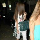 Selena Gomez got her hair chemically straightened today at a hair salon in West Hollywood, California on July 19, 2013 - 454 x 639