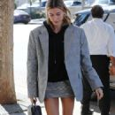 Hailey Baldwin in Mini Skirt – Out in Los Angeles