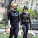 Elizabeth Olsen in Tights with boyfriend Robbie Arnett in Los Angeles - 454 x 591