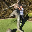 A bronze statue of Ronaldo, sculpted by Nano Lopez, has been next to two football pitches at the Nike campus.  Read more: http://www.dailymail.co.uk/sport/football/article-4258306/Brazi-legend-Ronaldo-ball-trip-Nike-HQ.html#ixzz4ZnGOdm6i  Follow us: @Mail - 454 x 454