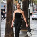 Olivia Culpo on her way to dinner in Santa Monica - 454 x 681