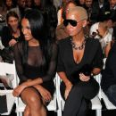Amber Rose and Ciara attend Mercedes-Benz Fashion Week at Bryant Park in New York, New York - September 11, 2009 - 378 x 594