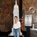 Olivia Culpo Lights the Empire State Building