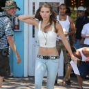 AnnaLynne McCord shooting scenes for her hit show