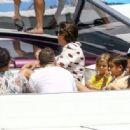 Kourtney Kardashian Takes a Boat Ride With Her Family in Miami - July 3, 2016 - 454 x 315