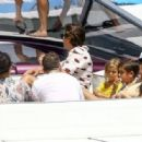 Kourtney Kardashian Takes a Boat Ride With Her Family in Miami - July 3, 2016