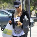 Paris Hilton stopped by the popular Lemonade restaurant in Los Angeles, California on July 3, 2012