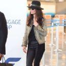 Catherine Zeta-Jones – Arriving at JFK Airport in New York - 454 x 681