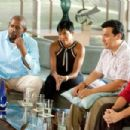 L to R: Forest Whitaker, Regina King, Carlos Mencia and Diana-Maria Riva; Photo by Scott Garfield - 454 x 303