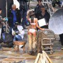 Lais Ribeiro Shooting a commercial for Victoria Secret's upcoming holiday catalog in Aspen - 454 x 415