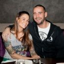 CM Punk and Lita at UFC's The Ultimate Fighter finale in April 2013 - 454 x 498
